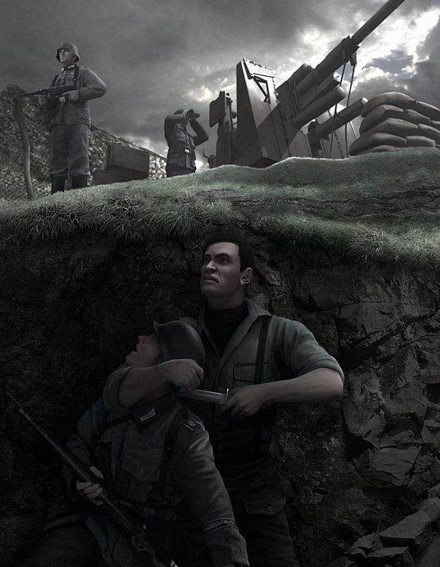 Commandos Strike Force - PS2 Artwork
