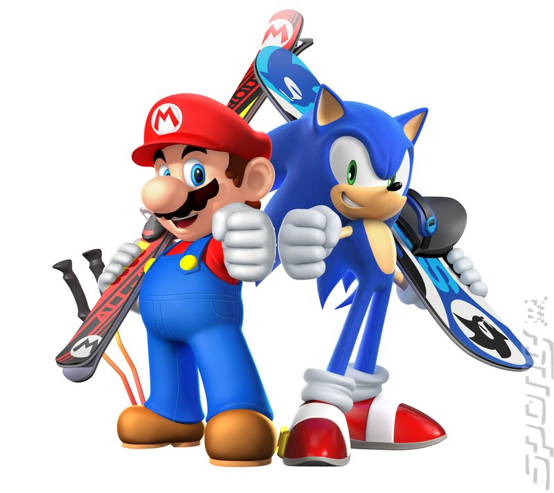 Mario & Sonic at the Sochi 2014 Olympic Winter Games - Wii U Artwork
