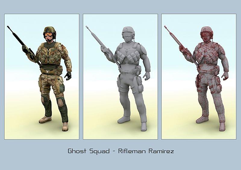 Tom Clancy's Ghost Recon: Advanced Warfighter - GameCube Artwork