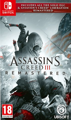 Assassin's Creed III Remastered - Switch Cover & Box Art