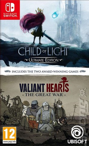 Child Of Light and Valiant Hearts: The Great War - Switch Cover & Box Art