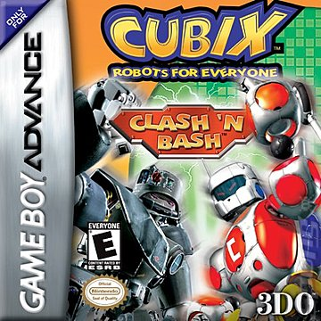 Cubix Robots for Everyone: Clash 'n Bash - GBA Cover & Box Art