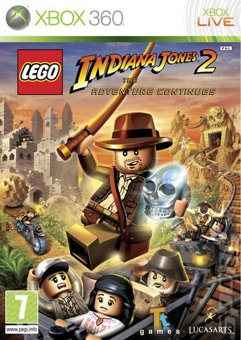 LEGO Indiana Jones 2: The Adventure Continues - Xbox 360 Cover & Box Art