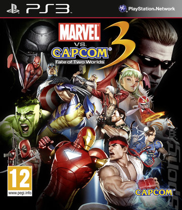 Marvel vs. Capcom 3: Fate of Two Worlds - PS3 Cover & Box Art
