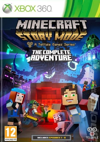 Minecraft Story Mode: The Complete Adventure - Xbox 360 Cover & Box Art