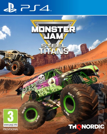 Monster Jam: Steel Titans - PS4 Cover & Box Art
