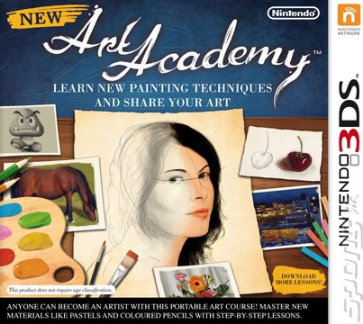 New Art Academy: Learn New Painting Techniques and Share Your Art - 3DS/2DS Cover & Box Art