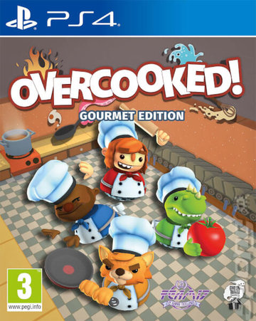 Overcooked - PS4 Cover & Box Art