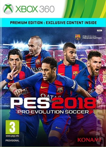 PES 2018 - Xbox 360 Cover & Box Art