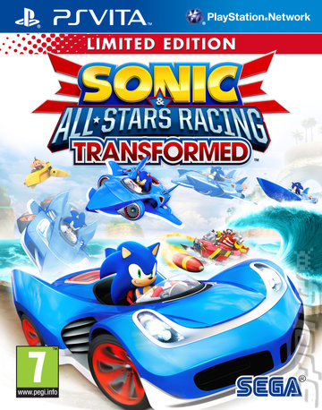 Sonic & All-Stars Racing Transformed - PSVita Cover & Box Art