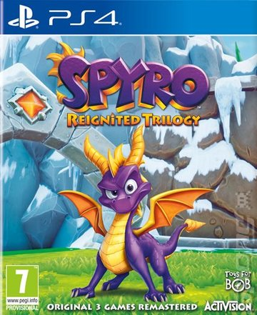 Spyro Reignited Trilogy - PS4 Cover & Box Art