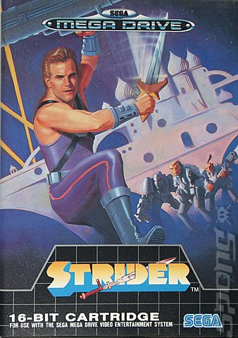 Strider - Sega Megadrive Cover & Box Art