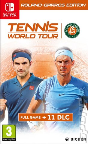 Tennis World Tour: Roland-Garros Edition - Switch Cover & Box Art