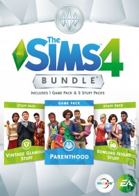 The Sims 4: Bundle (Parenthood, Vintage Glamour Stuff & Bowling Night Stuff) - PC Cover & Box Art