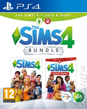 The Sims 4 Bundle: The Sims 4 + Cats & Dogs - PS4 Cover & Box Art