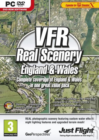 VFR Real Scenery: England & Wales - PC Cover & Box Art