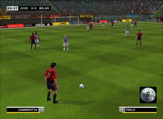 AC Milan Club Football 2005 - PS2 Screen