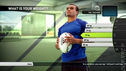 Adidas miCoach - Xbox 360 Screen