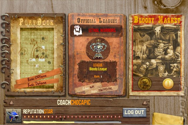 Blood Bowl: Star Coach - PC Screen
