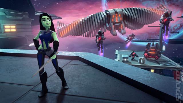Disney Infinity 2.0: Marvel Superheroes - PSVita Screen