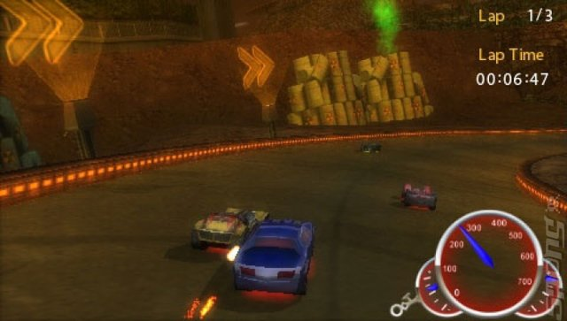 Hot Wheels Ultimate Racing - PSP Screen