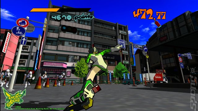 Jet Set Radio - PSVita Screen