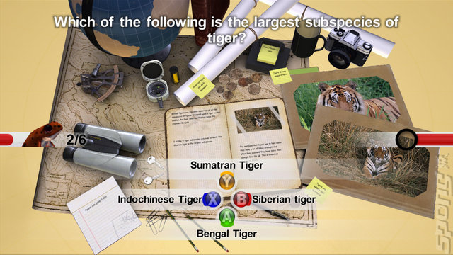 Nat Geo Quiz!: WildLife - Wii Screen