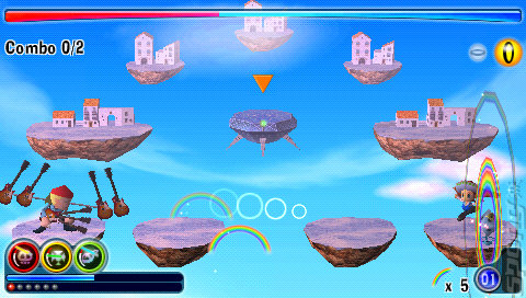 Rainbow Islands Evolution - PSP Screen