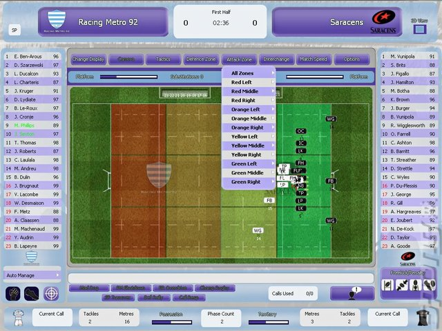 Rugby League Team Manager 2015 - PC Screen