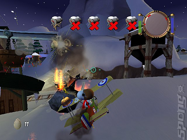 Snoopy vs. the Red Baron - PC Screen