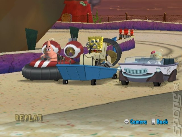 SpongeBob Squarepants Boating Bash - Wii Screen