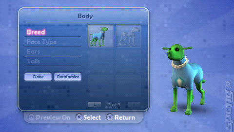 The Sims 2: Pets - PSP Screen