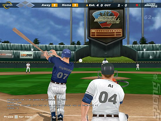 Ultimate Baseball Online 2006 - PC Screen
